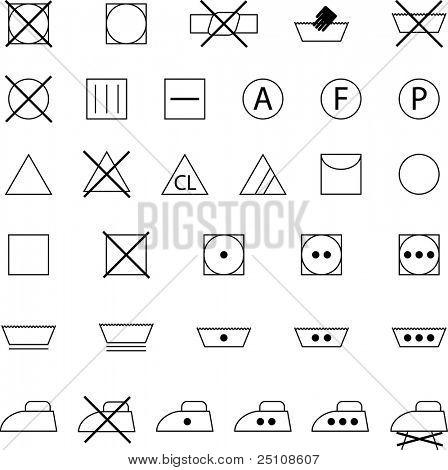 clothes conservation icons set