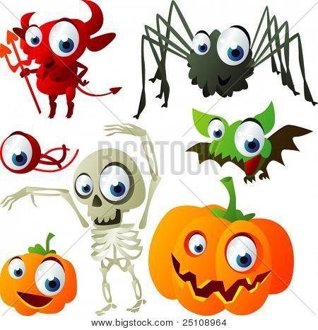 vector halloween set 3