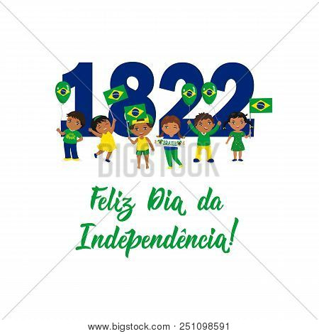 Brazil independence vector photo free trial bigstock brazil independence day greeting card text in portuguese happy independence day 1822 m4hsunfo