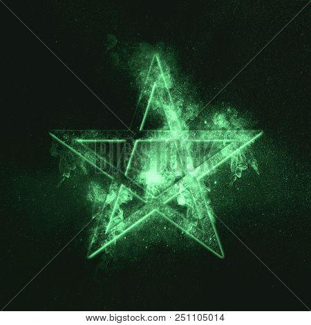 Pentagram Symbol. Green Symbol Green Symbol Green Symbol