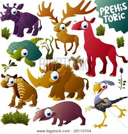vector prehistoric animals set poster