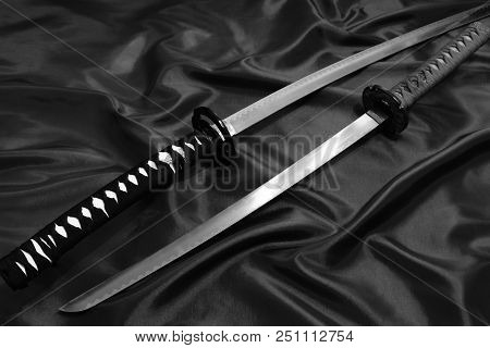 Sword Of The Samurai. Medieval Japanese Weapons Sword Of The Samurai. Medieval Japanese Weapons