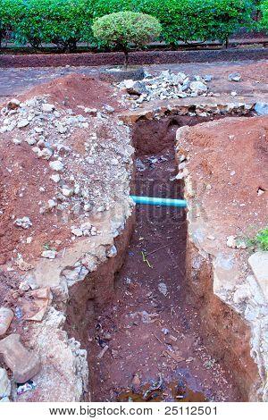 repair a broken water pipes