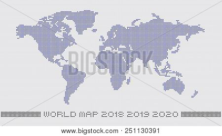 Dotted world map by vector photo free trial bigstock dotted world map by circle dots accurate pixels world map monochrome with a light gumiabroncs Image collections