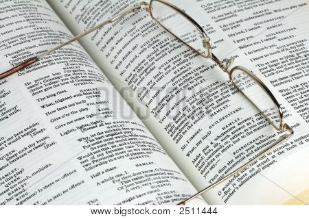 Book By Shakespeare And Glasses