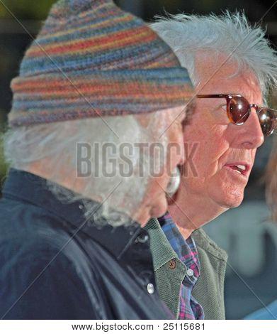 Graham Nash with David Crosby at Liberty Park