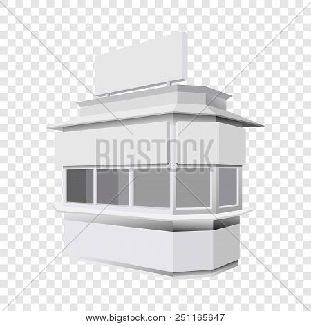 Trade Booth Mockup. Realistic Illustration Of Trade Booth Vector Mockup For On Transparent Backgroun