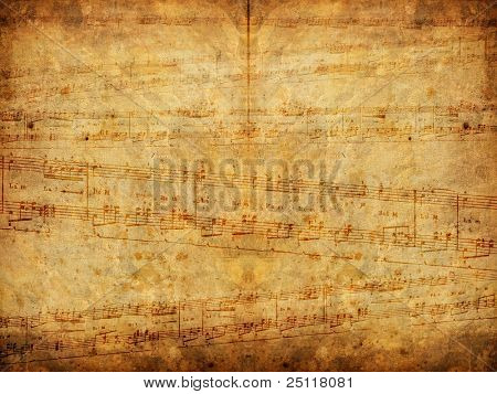 Aged music background