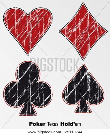 Vector Grunge poker Background