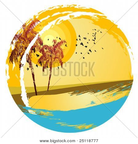 Vector shaped Beach