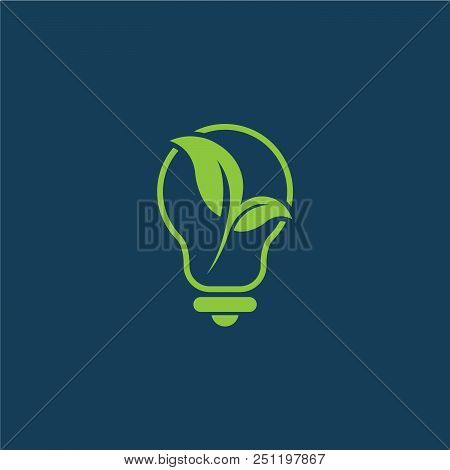 Save Energy Eco Concept Icon For Green Ecology Environment Protection And Nature Saving Or Conservat