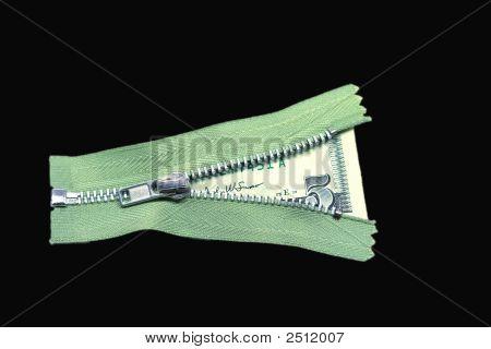 Isolated Money Zipper