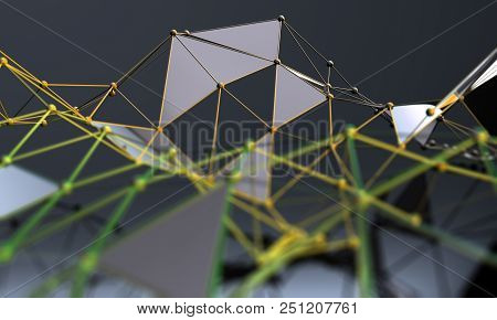 Science And Technology Background.business And Connection. Abstract Mesh And Net.networking And Inte