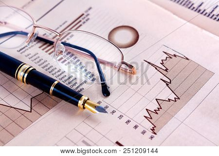 Business And Financial Concept.bank Accounting And Invest Background.stock Exchange And Markets Grap