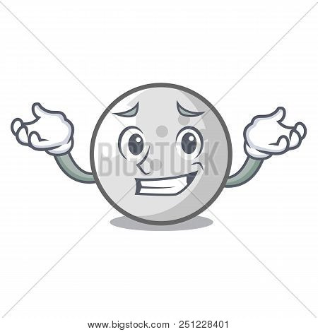 Grinning Golf Ball Character Cartoon Vector Illustration