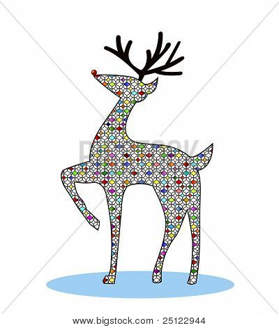 reindeer stained glass effect - colors