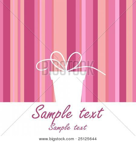background with gift box