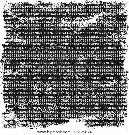 Numbers grunge background