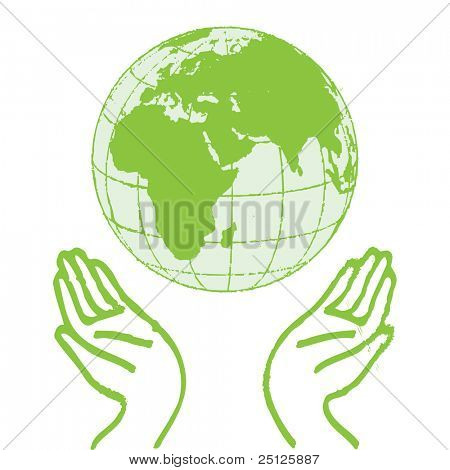 Hands Holding The Green Earth
