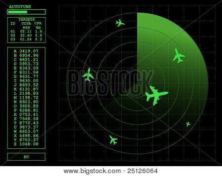 Radar screen.Vector illustration AI8 compatible.