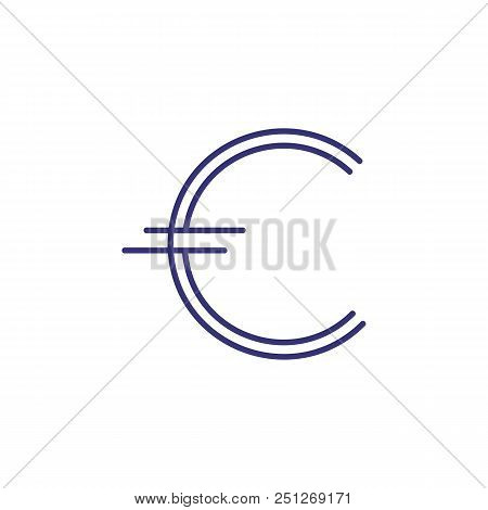 Euro Symbol Line Icon. Money, Paying, Sign. Finance Concept. Can Be Used For Topics Like Currency, B