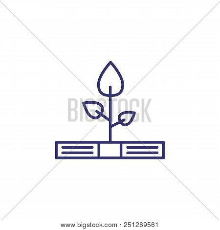 Growing Profit Line Icon. Bundle Of Money, Tree, Leaves. Finance Management Concept. Can Be Used For