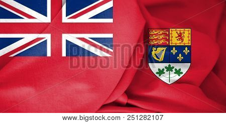 Canadian Red Ensign (1921-1957). 3d Illustration. Front View.