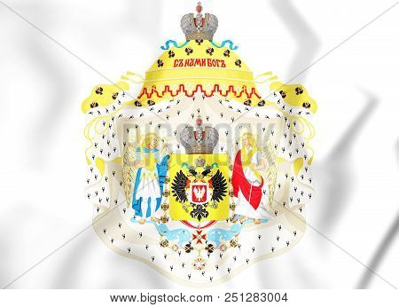3d Great Coat Of Arms Of Congress Poland.  3d Illustration.