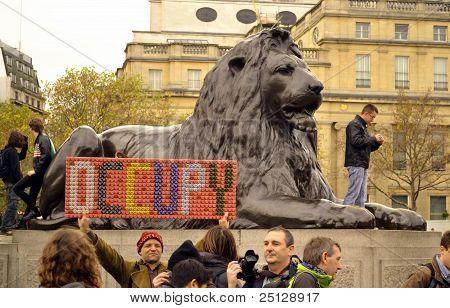 Occupy Trafalgar Square Attempt