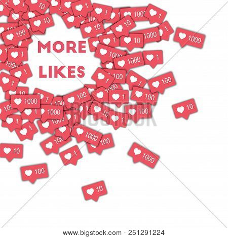 May 01, 2017: More Likes. Social Media Icons In Abstract Shape Background With Pink Counter. More Li