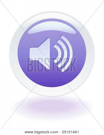 Internet glowing speaker volume button.