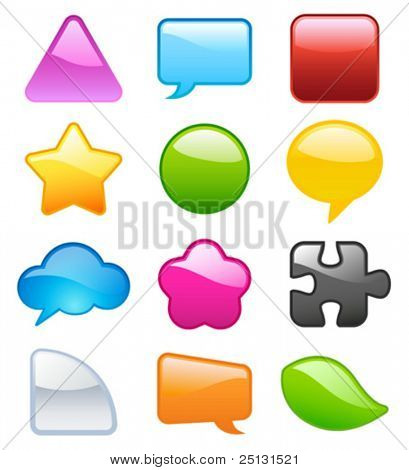 Colorful Speech/Talk Bubbles in VECTOR format