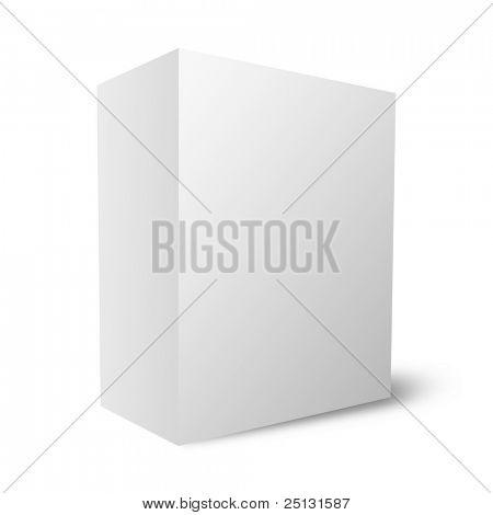 Plain empty packaging box