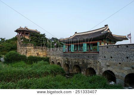 Hwahongmun Gate During Sunset Hours