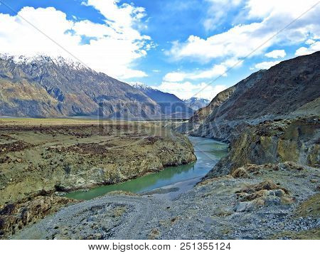 The Indus River Is One Of The Longest Rivers In Asia. It Flows In A Southerly Direction Along The En