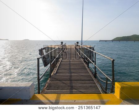 Bridge Connects To The Main Pier And Octa Pier Pillar Errect From The Sea Water Is One Of The Part O