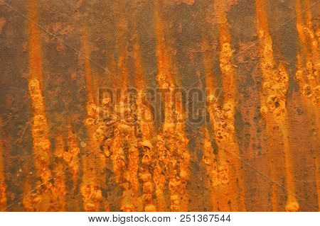 Sheet Ferric Coated By Rust Decorative Background