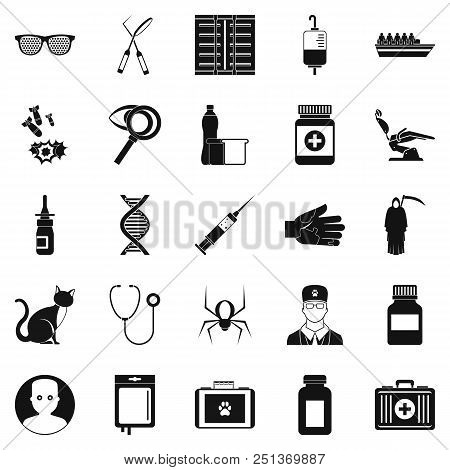 Physician Icons Set. Simple Set Of 25 Physician Vector Icons For Web Isolated On White Background