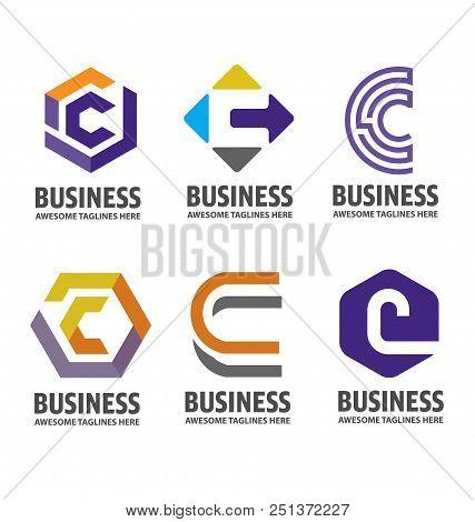 C Letter Logo Design Vector Illustration Logo Set, C Letter Logo Vector, Letter C Logo Vector, Creat