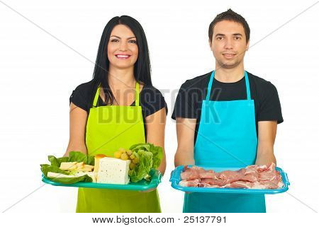 Cheese Maker And Butcher