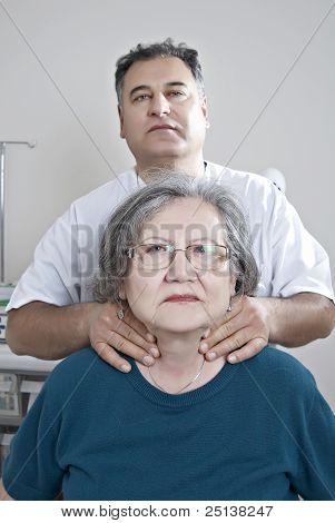 Doctor Examine Thyroid