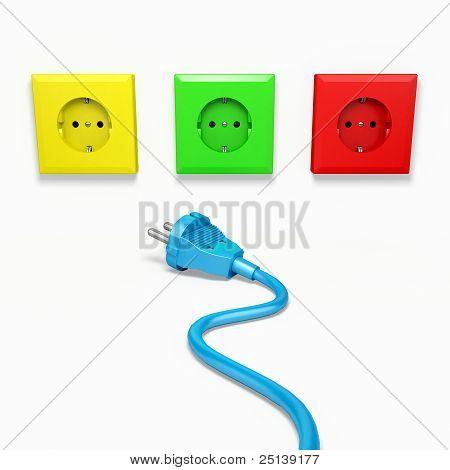 Plug and socket.