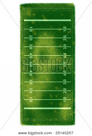 American Football Field covered by realistic grass