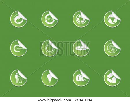 Recycle Sticker Set