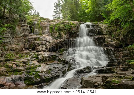 Picturesque Cascading Waterfall - Shelving Rock Falls Is A 50-foot Cascade That Lies To The East Sid