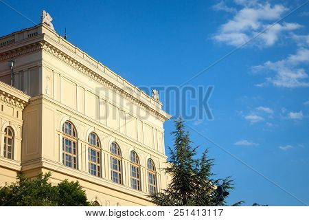 Main Building Of Szeged University, On The Dugonics Ter Square, Taken During A Summer Afternoon, Wit