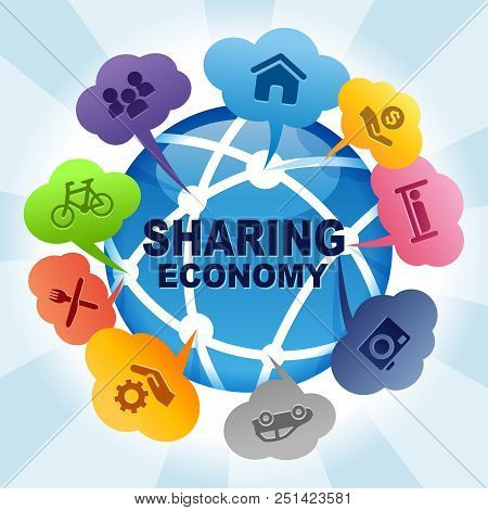 Sharing Economy Collaborative Global Share Concept Ideas