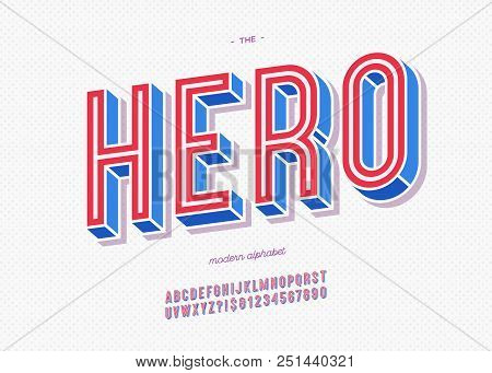 Vector Hero Typeface Trendy Typography Colorful Style For Decoration, Logo, Party Poster, T Shirt, B