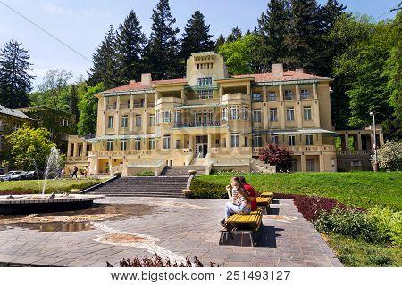 Luhacovice, Czech Republic - April 30 2018: Bedrich Smetana House In Spa Town On April 30, 2018 In L