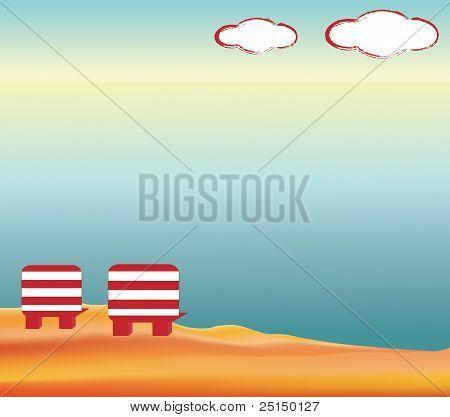 Ilustration of a peaceful beach